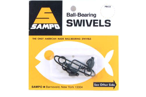 Sampo BX5CB BB Coastlock Snap Swivel Black 165LB Bubble Cd/2Pk