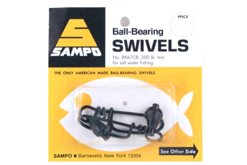 Sampo BX67CB BB Coastlock Snap Swivel Black 200Lb Bubble Cd/2Pk