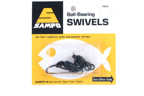 Sampo BRX6CB Bbl Ring Coastlock Snap Swivel Black 200Lb Bubble Cd/2Pk