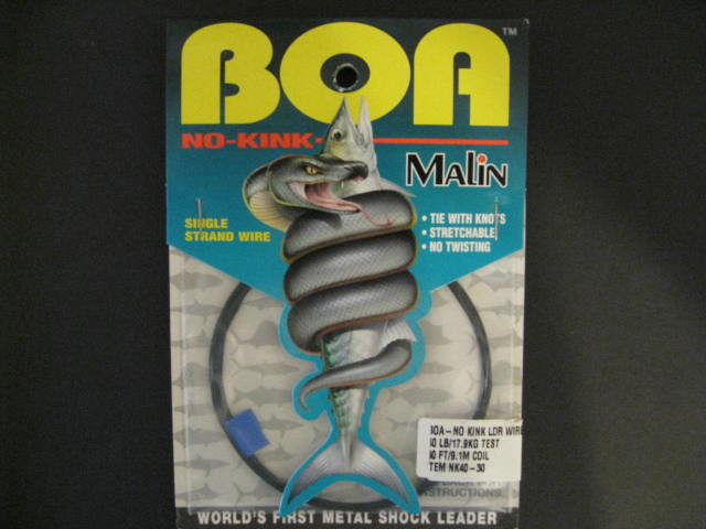 Malin Wire | Malin Nk40 30 Boa No Kink Leader Wire 40 Lb Test Hnr0384 0125