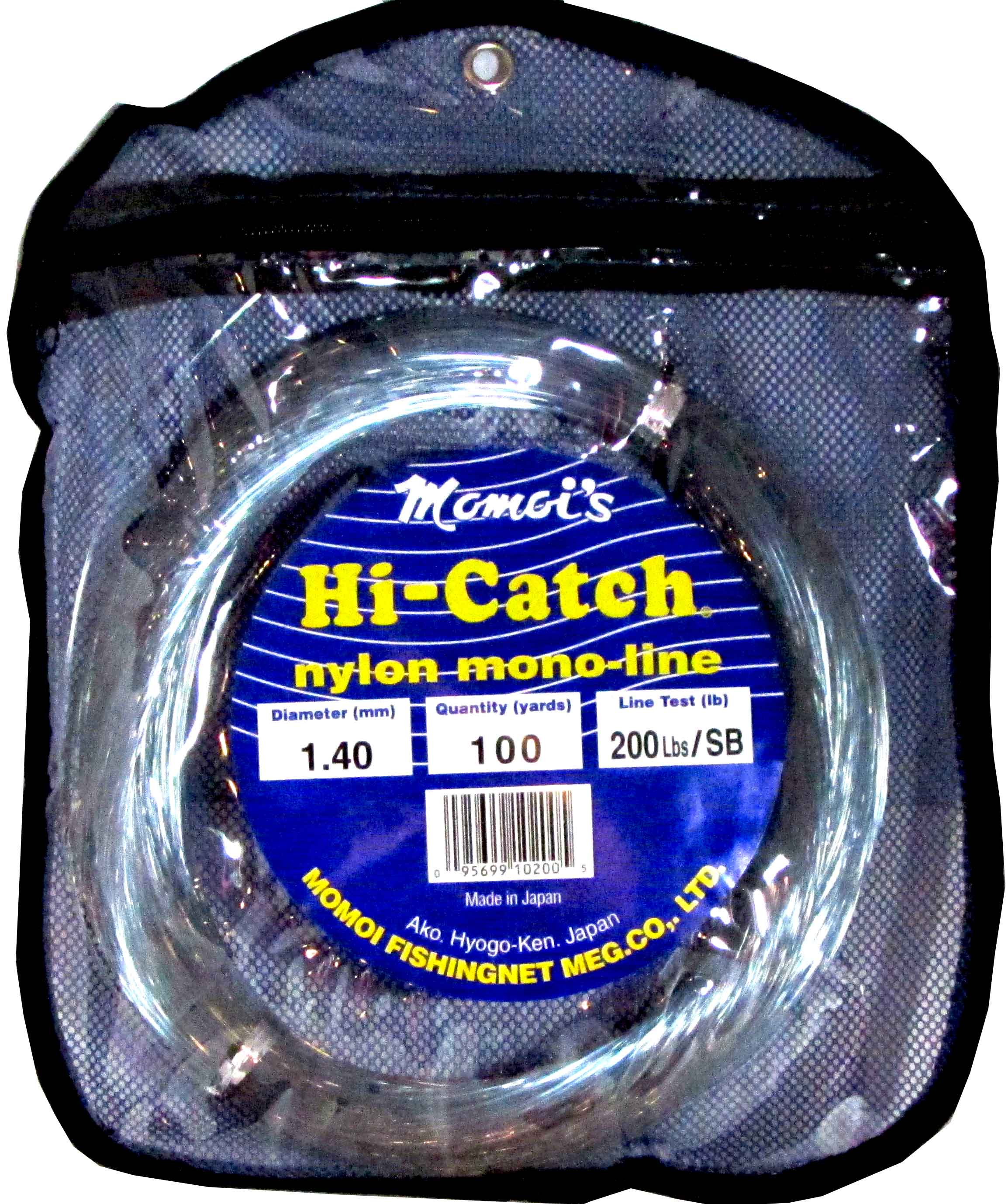 Momoi 200Lb 100Yds Smoke Blue 10200 Hi-Catch Leader Coil Monofilament