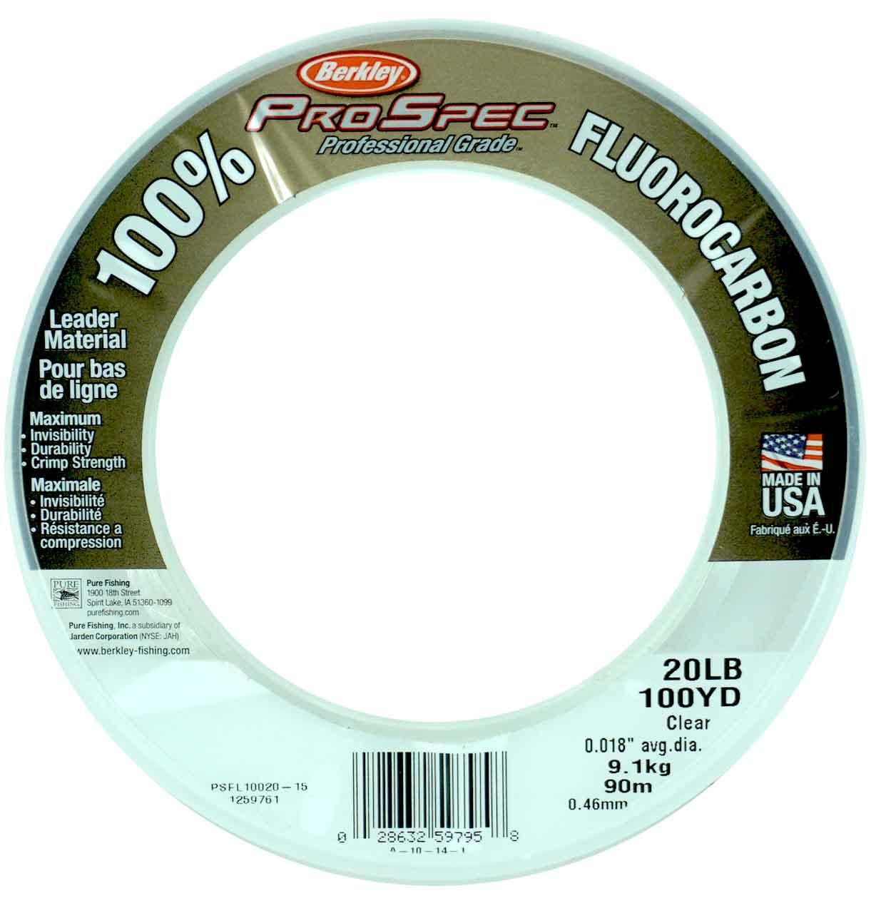 Angelsport-Schnüre & -Vorfächer Berkley PSC380-80 ProSpec Chrome Mono Line 80Lb 1750yds Blaze Orange