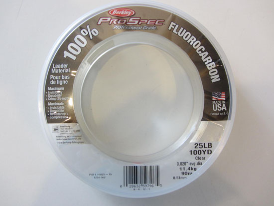 Fluorocarbon Leader Berkley Pro Spec 25lb Test 100yds Clear Bracelet