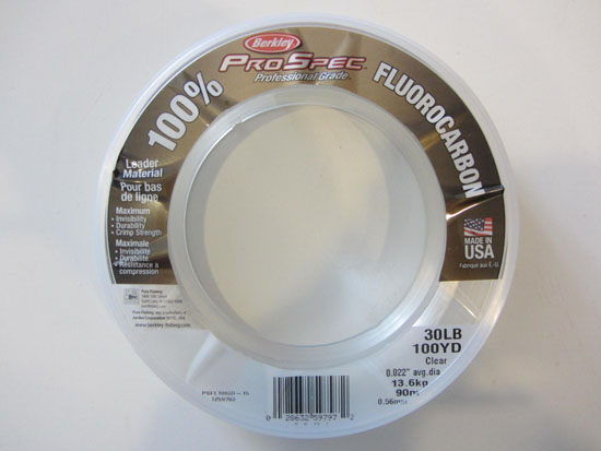 Fluorocarbon Leader Berkley Pro Spec 30lb Test 100yds Clear