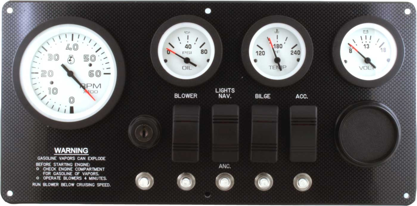 Marine Instrument Panel Inboard Or Inboard Outboard With Ingnition Switch on mercury outboard tachometer wiring diagram