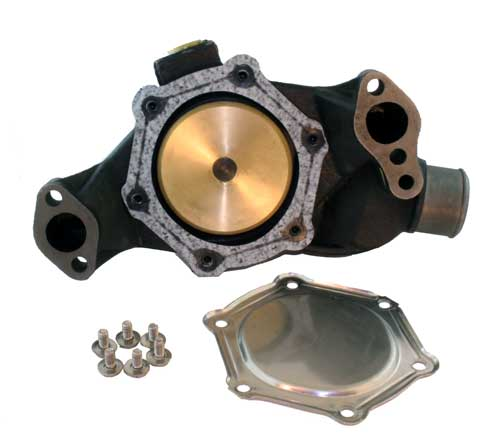 Rear  Side  of  water  pump  with  plate  removed  (click  to  enlarge)