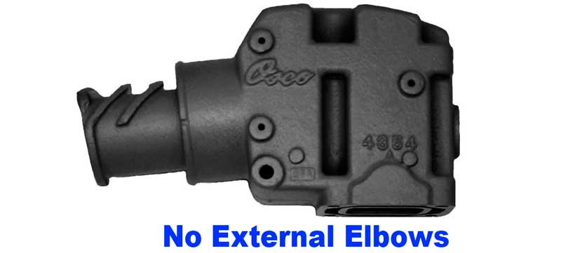 Note, no external water port elbows on Non-Dry-Joint
