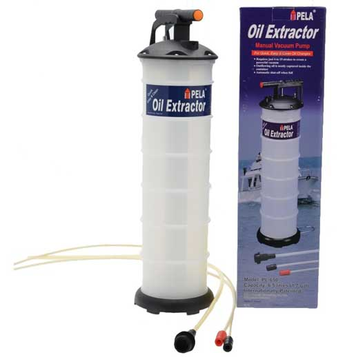 Oil Change Pump Marine Pela 650 Oil Extractor 6.5 Liter Easy Oil Change