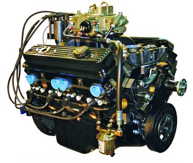 Engine 5.7L 350 LH GM Enhanced V8 Carbureted Marine Engine