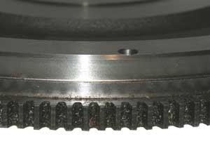 ring gear on rear of flywheel