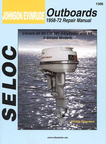 Manual Book Service Repair for Johnson Evinrude Outboard 58-72 50-125HP