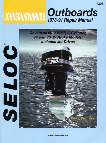 Manual Book for Johnson Evinrude Outboard 1973-1991 60-235 HP