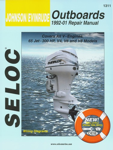 Manual Book Service Repair for Johnson Evinrude Outboard 92-01 65-300 HP