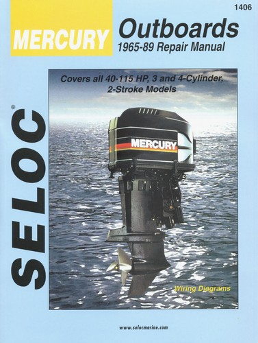 Repair Manual Mercury Outboards 65 89 40 115 Hp Sel1406 34 95 Ebasicpower Com Marine Engine Parts Fishing Tackle Basic Power Industries