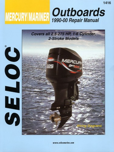 repair manual, mercury, mariner outboards 90 00 2 5 275 hp [sel1416 johnson motor diagram repair manual, mercury, mariner outboards 90 00 2 5 275 hp