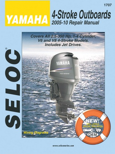 Repair Manual for Yamaha All 4 Stroke Outboards 2005-2010