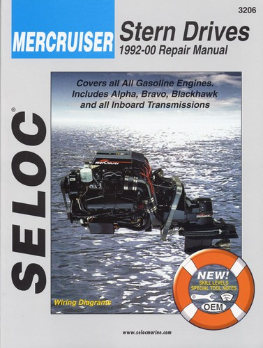 Repair Manual, Mercruiser Inboard, I-O 92-00