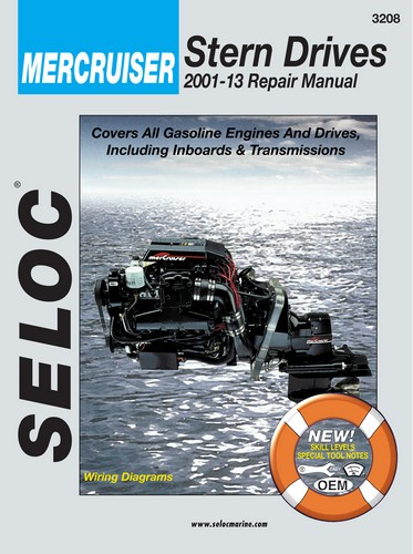 Repair Manual for Mercruiser Inboard and I-O 2001-2013
