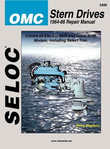 Repair Manual, OMC Inboards, I-O 64-86 [SEL3400] - $28.95 : Marine on