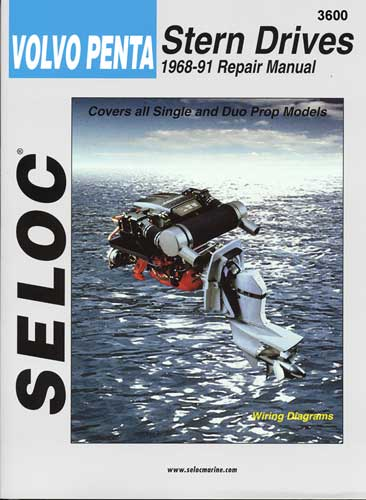 Manual Book Seloc Service Repair for Volvo Inboard Sterndrive 68-91
