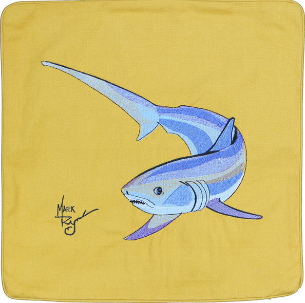 THRESHER SHARK EMBROIDERED GOLD