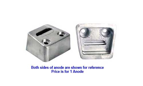 Anode Zinc Transom Block for Volvo SX OMC SX and King Cobra 3854130