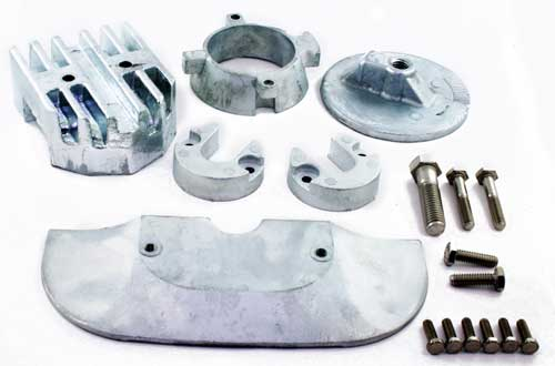 Anode Kit Zinc Alpha One Gen 2 Mercruiser Outdrive 1992 up with Hardware