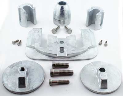 Anode Zinc Kit for Mercruiser Bravo 3 2004 and Newer with Hardware