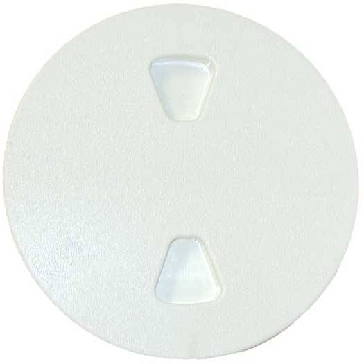 Boat Deck Plate Screw Out - Textured Top 8 Inch Dia Polar White Sure-Seal