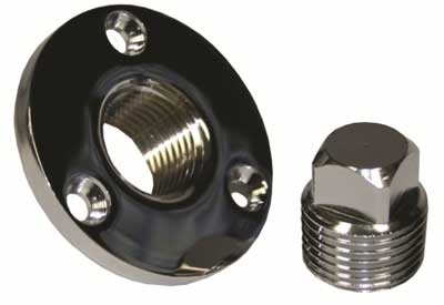 Garboard Marine Drain Plug and Base Chrome Brass