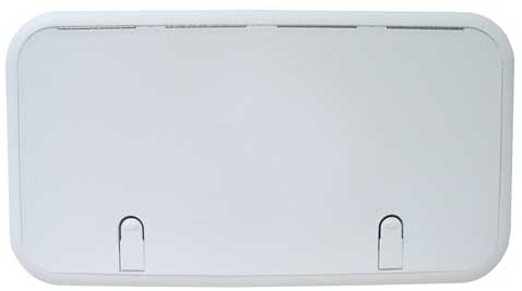 Boat Hatch Designer Series 13 Inch x 24 Inch Polar White