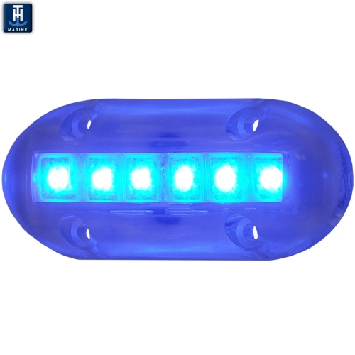 LED Marine Underwater Light Surface Mount 600 Lumens Blue