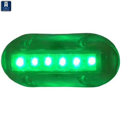 LED Marine Underwater Light Surface Mount 600 Lumens Green