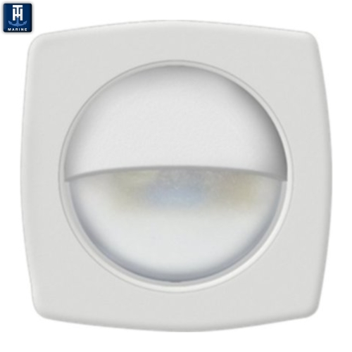 LED Marine Courtesy Companion Way Light no holes White Face White LEDs