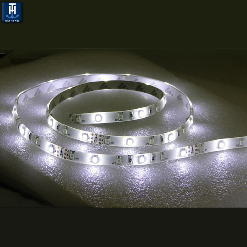 "LED Marine Flex Strip Rope Light 3M Mounting Tape 12"" Long Cool White"