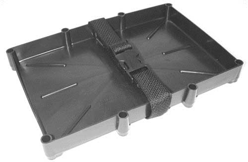 Marine Battery Holder Tray Poly Strap Space Saver Series 24 Batteries