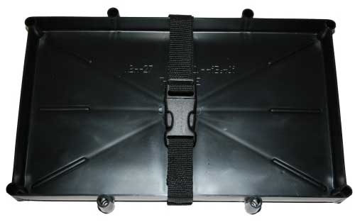 Marine Battery Holder Tray Poly Strap Space Saver Series 27 Batteries