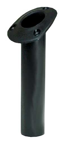Fishing Rod Holder Oval Angled Top Black 9-1⁄2 Inch Length