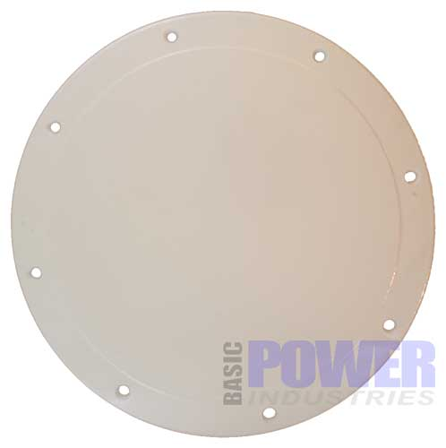 Screw Down Boat Deck Plate 10 Inch White 8 holes