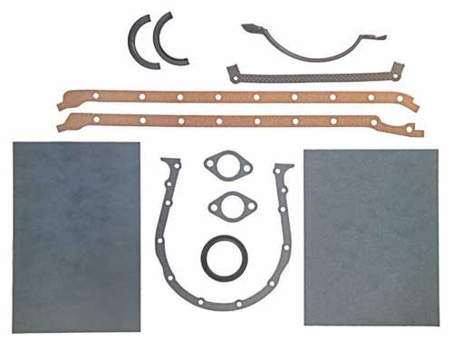 Gasket Lower Set Marine GM Big Block V8 427 454 7.4L 1991 and Earlier