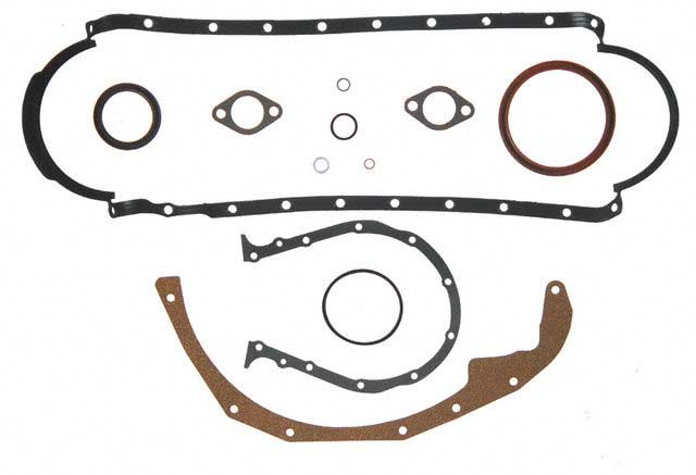 Gasket Lower Set Marine GM Big Block V8 Gen 5 1 Piece Rear Seal 1991 Up