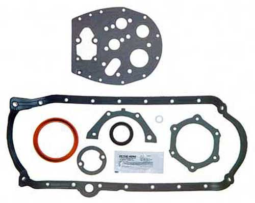 Gasket Lower Set Marine GM V8 Small Block 1986 Later for 1 Piece Seal