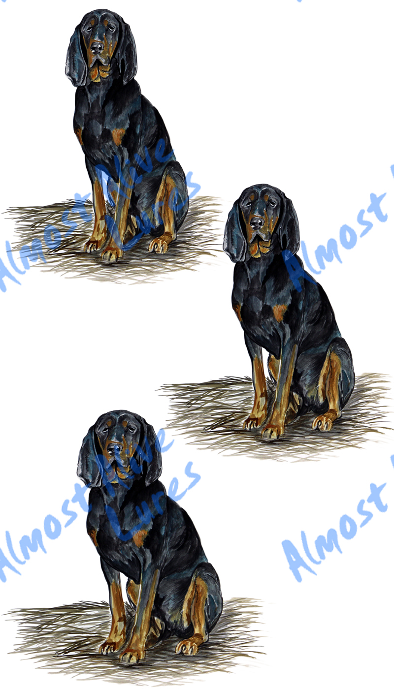 Vinyl Decal (Made in USA) Black & Tan Hound Dog