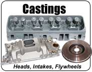 cylinder heads, intake manifolds, cast iron timing covers