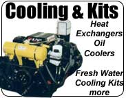 heat exchanger, fresh water cooling kit, oil cooler, transmission cooler