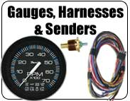 tachometer, spedometer, sender, harness, fuel gauge, oil pressure, water temperature, voltmeter gauge