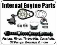 camshafts, pistons, piston rings, main bearing sets, crankshafts, connecting rod sets, lifters, timing kits, oil pumps...