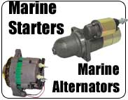 Marine Starters and Marine Alternators for inboards, sterndrives, outboards, PWC