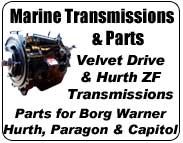 Borg Warner, Hurth, Paragon, ZF, Velvet Drive, Capitol marine transmission and parts