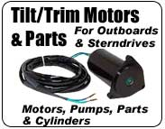 Marine Tilt Trim Motors and Pumps for sterndrive and outboard